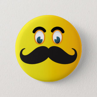Moustache Smiley Button