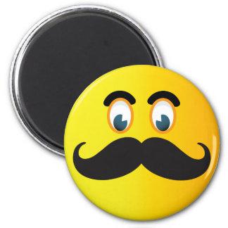 Moustache Smiley Magnet