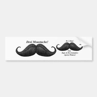 Moustache Stop Rape Discrimination Bumper Stickers