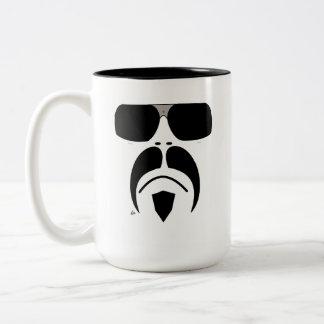 Moustache Terminator Style Sunglasses Mug