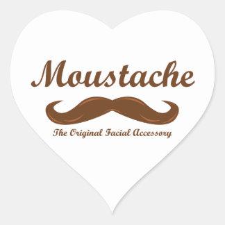 Moustache - The Original Facial Accessory Heart Sticker