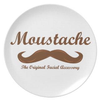 Moustache - The Original Facial Accessory Melamine Plate