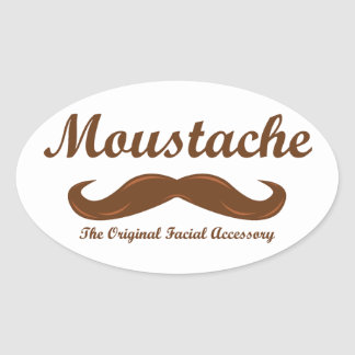 Moustache - The Original Facial Accessory Oval Sticker