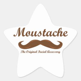 Moustache - The Original Facial Accessory Star Sticker