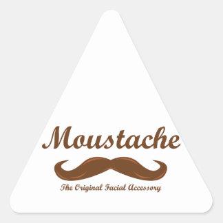 Moustache - The Original Facial Accessory Triangle Sticker