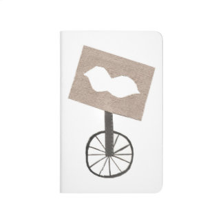Moustache Unicycle Pocket Journal