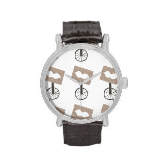 Moustache Unicycle Wrist Watch