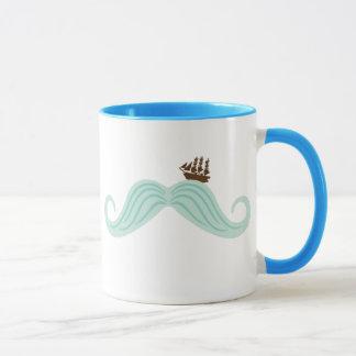 Moustache Waves Mug