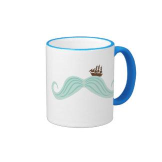 Moustache Waves Coffee Mug
