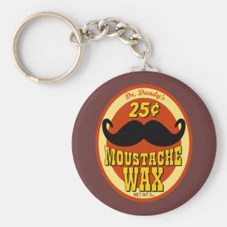 Moustache Wax del Dr. Dandy's Llavero Redondo Tipo Pin