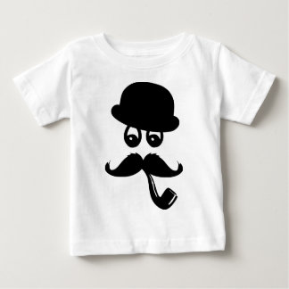 Moustache with eyes, whistle and hat baby T-Shirt