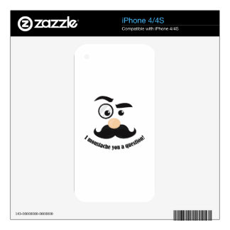Moustache You iPhone 4S Decals