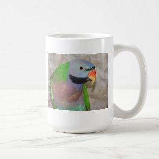 Moustached Parakeet Classic White Coffee Mug