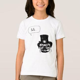 Moustached pug T-Shirt