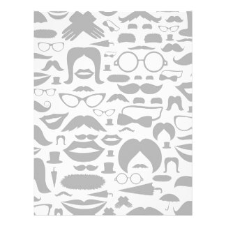 Moustaches a background letterhead