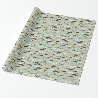 Moustaches Wrapping Paper