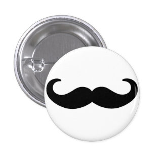Moustachio 1 Inch Round Button