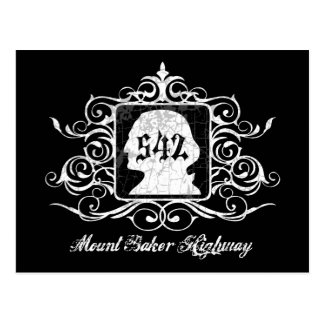 Mout Baker Highway -grungy Postcard