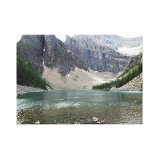 Moutain and Lake View Canvas Print