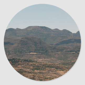 Moutains in Northern Ethiopia Classic Round Sticker