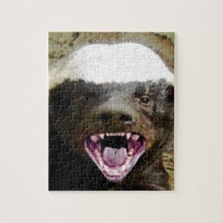 mouth bite honey badger jigsaw puzzle