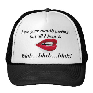 Mouth Moving Blah Blah Blah Hat