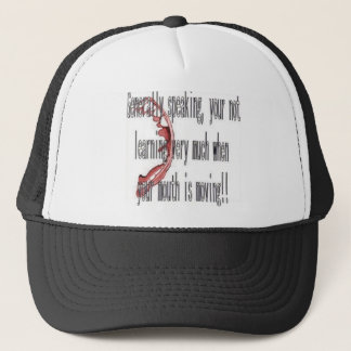 mouth moving trucker hat