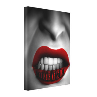 Mouth of Anger Stretched Canvas Print