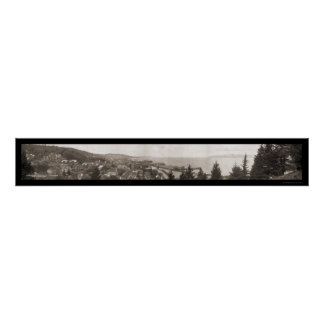 Mouth of Columbia River Astoria Oregon Photo 1914 Posters