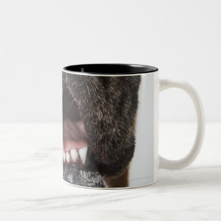 Mouth of Great Dane, close-up Two-Tone Coffee Mug