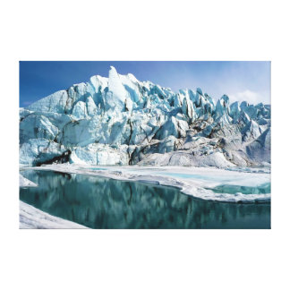 Mouth of the Matanuska Glacier in Alaska Stretched Canvas Print