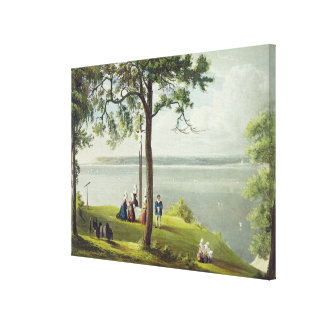 Mouth of the Seine, from 'Views on the Seine', eng Canvas Print