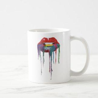 Mouth painting Kiss Art Coffee Mug