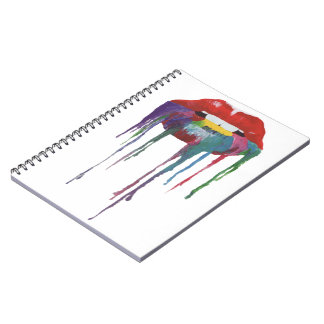 Mouth painting Kiss Art Notebook