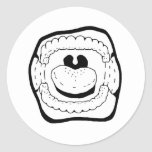 Mouth Round Stickers