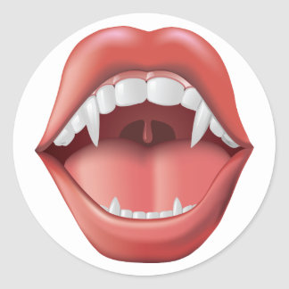 Mouth with Fangs - sticker