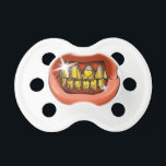 """Mouth With Gold Teeth Grillz Ostentation Pacifier<br><div class=""""desc"""">Mouth With Gold Teeth Grillz Ostentation baby, gold, cartoon, rap, """"hip-hop"""", """"gold teeth"""", """"gold grillz"""", """"gold tooth"""", """"pacifier baby"""", """"grill on teeth"""", """"baby first teeth"""", """"pacifier teeth"""", """"first teeth baby"""", fun, """"baby shower"""", golden, cute, shower, lips, teeth, little, mouth, illustration, dummy, dental, trendy, tooth, grillz, """"pacifiers and teeth"""", """"cute pacifier"""",...</div>"""