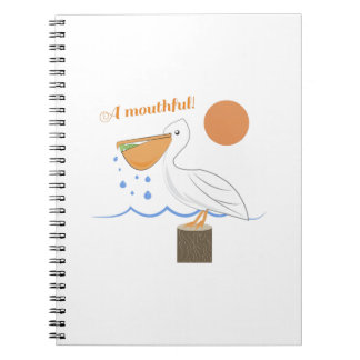 Mouthful Pelican Spiral Note Book