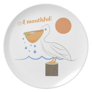 Mouthful Pelican Dinner Plates