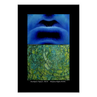 Mouthpiece Triptych - BLUE Poster
