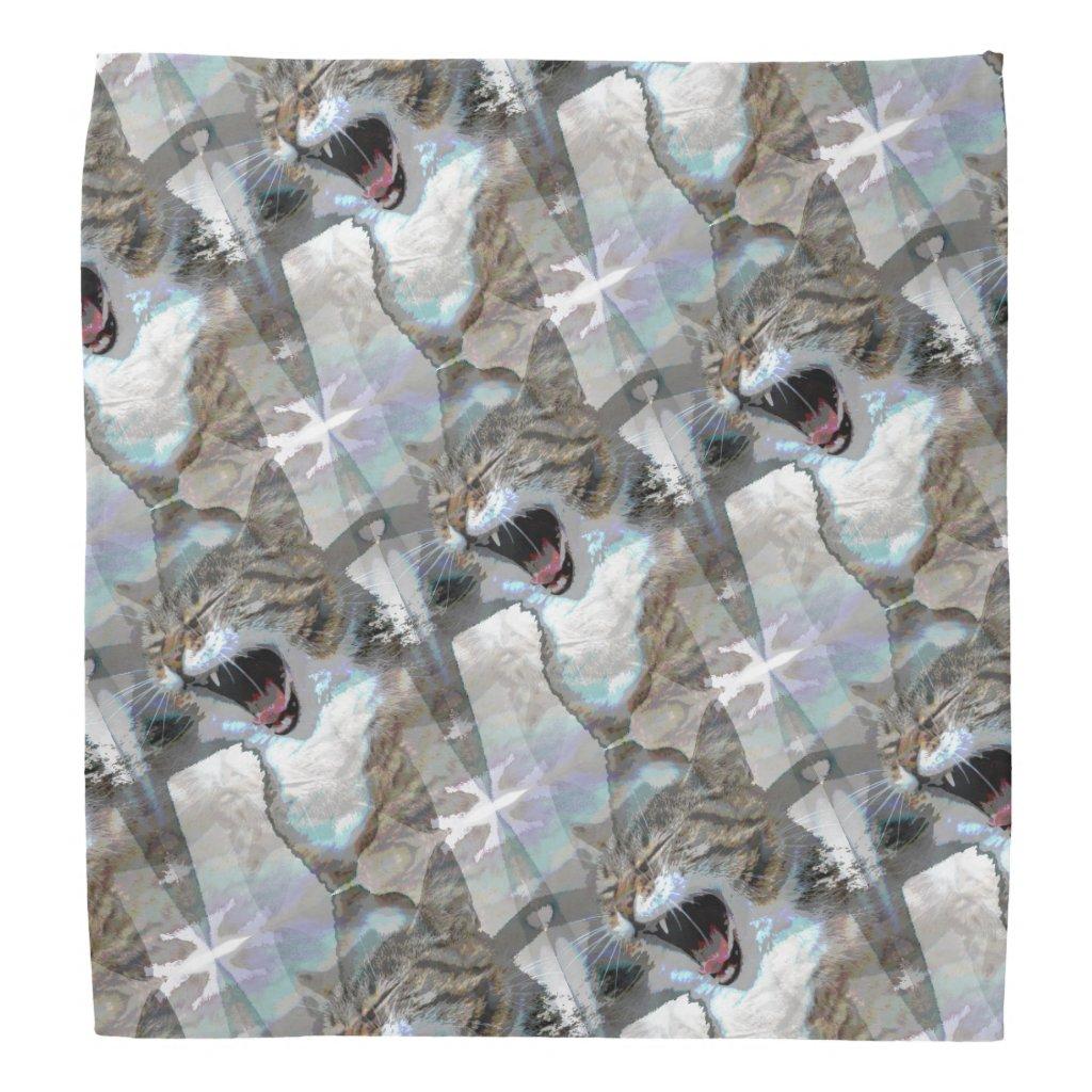 Mouthy Cat Designed Bandana