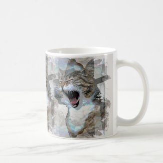 Mouthy Cat Designed Photo Coffee Mug