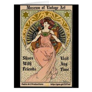MOVA Art Nouveau Promo 1898 Card