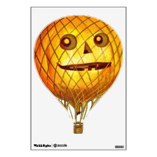 Movable Jack-o-Lantern Hot Air Balloon Wall Decal
