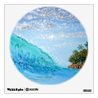 Movable Wall Decal: Surf Art for Ocean Lovers Wall Graphics