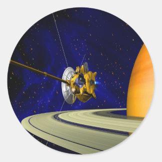 move around love cassini saturn orbit insertion so classic round sticker