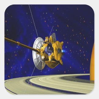 move around love cassini saturn orbit insertion so square sticker