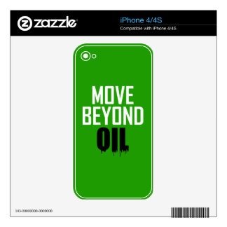 Move Beyond Oil Decal For iPhone 4