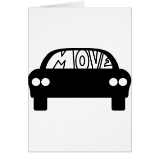 MOVE_CAR GREETING CARDS