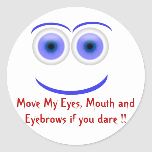 Move Eyes in Face Funny Sticker